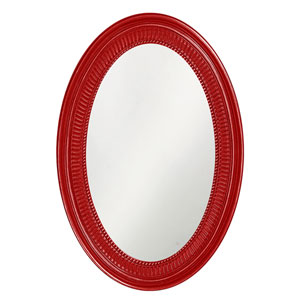Ethan Glossy Red Oval Mirror