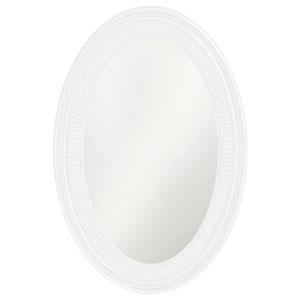 Ethan White Oval Mirror