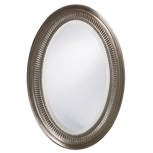 Ethan Nickel Oval Mirror