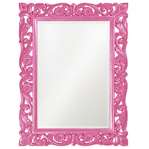 Chateau Hot Pink Rectangle Mirror