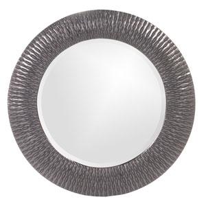 Bergman Charcoal Gray Small Round Mirror