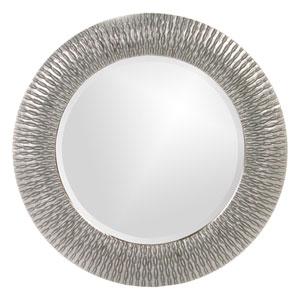 Bergman Glossy Nickel Round Mirror