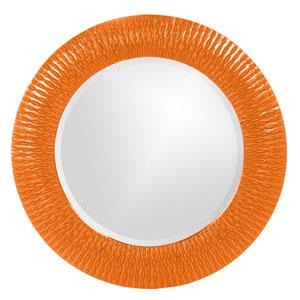 Bergman Orange Small Round Mirror
