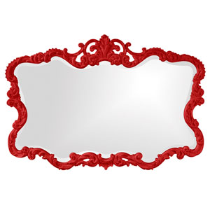 Talida Red Rectangle Mirror