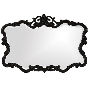 Talida Black 1-Inch Rectangle Mirror