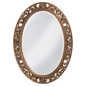 Suzanne Antique Bronze Oval Mirror