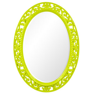 Suzanne Glossy Moss Green Oval Mirror