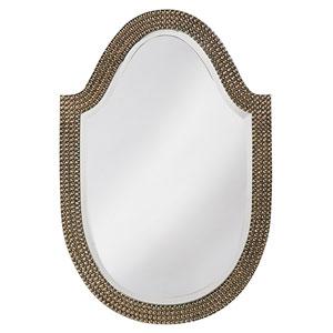 Lancelot Avanti Silver Leaf Arched Oval Mirror