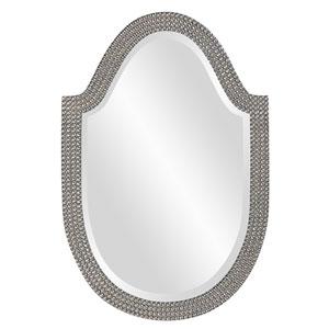 Lancelot Glossy Nickel Oval Mirror