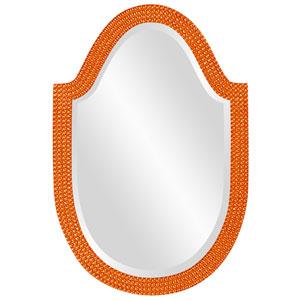 Lancelot Glossy Orange Oval Mirror