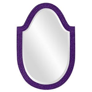 Lancelot Glossy Royal Purple Oval Mirror