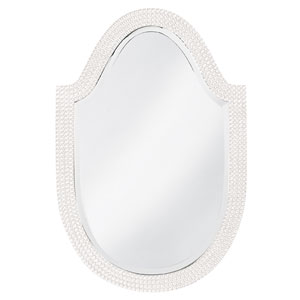 Lancelot White Arched Oval Mirror