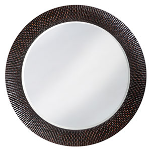 Bergman Black Round Mirror