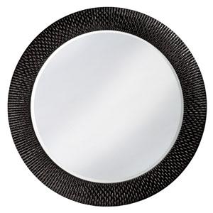 Bergman Glossy Black Large Round Mirror