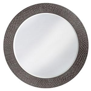 Bergman Charcoal Gray Large Round Mirror