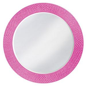 Bergman Glossy Hot Pink Large Round Mirror