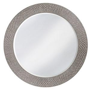 Bergman Glossy Nickel Large Round Mirror