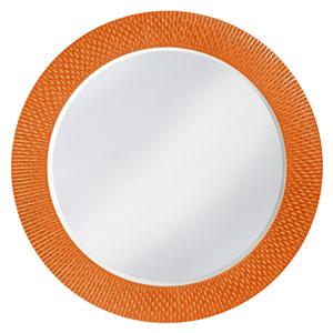 Bergman Glossy Orange Large Round Mirror