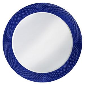 Bergman Glossy Royal Blue Large Round Mirror