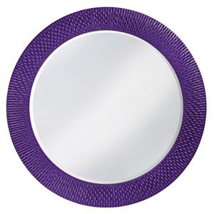 Bergman Glossy Royal Purple Large Round Mirror