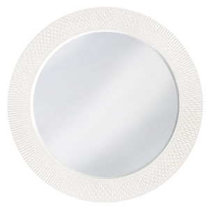 Bergman White Large Round Mirror