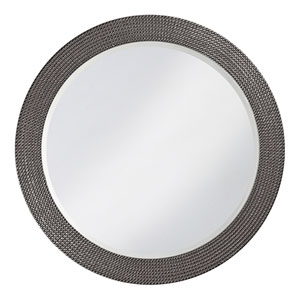 Lancelot Charcoal Gray Round Mirror