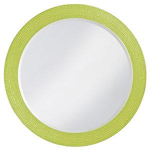 Lancelot Green Round Mirror