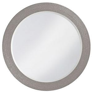 Lancelot Glossy Nickel Round Mirror