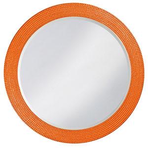 Lancelot Glossy Orange Round Mirror