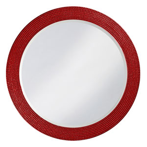 Lancelot Red Round Mirror