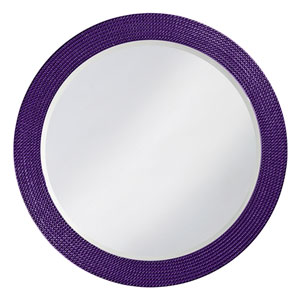 Lancelot Royal Purple Round Mirror