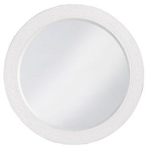 Lancelot Glossy White Round Mirror