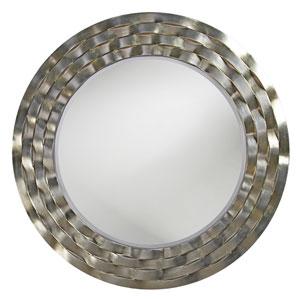 Cartier Silver Leaf Round Mirror