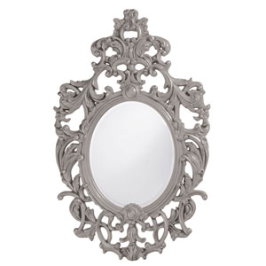 Dorsiere Glossy Nickel Oval Mirror