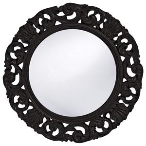 Glendale Black 2-Inch Round Mirror