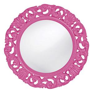 Glendale Hot Pink Round Mirror