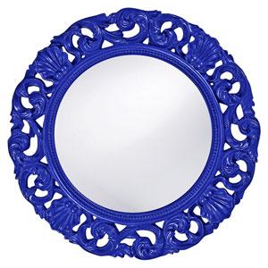 Glendale Royal Blue Round Mirror