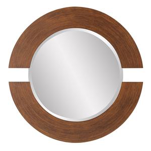 Orbit Burnished Copper Round Mirror