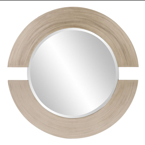 Orbit Silver Leaf Round Mirror