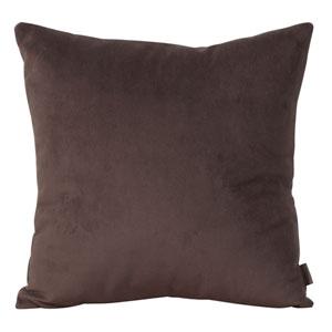 Bella Chocolate 20-Inch Square Pillow