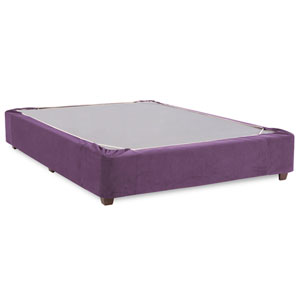 Bella Eggplant Twin Boxspring Kit and Cover