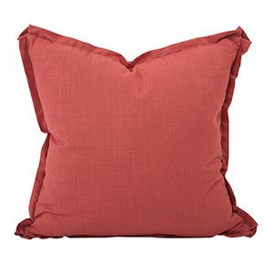 Davida Kay Linen Slub Poppy 24 x 24 Pillow - Down Insert