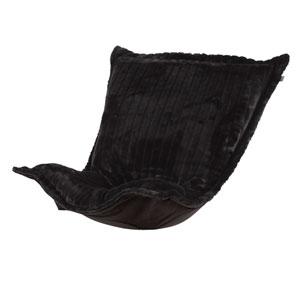Puff Mink Black Chair Cushion