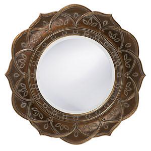 Erica Bronze Round Mirror