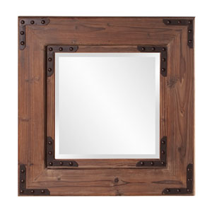 Caldwell Wood Square Mirror