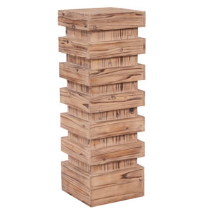 Stepped Natural Wood Large Pedestal