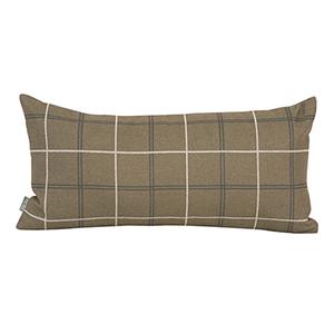 Oxford Moss Kidney Pillow - Down Insert