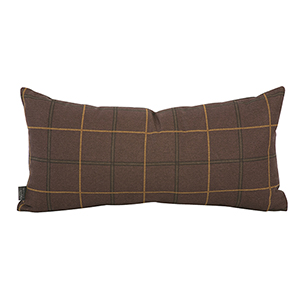 Oxford Chocolate Kidney Pillow - Down Insert