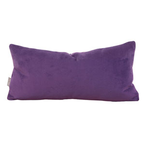 Bella Eggplant Kidney Pillow with Down Insert