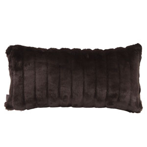 Mink Black Kidney Pillow with Down Insert